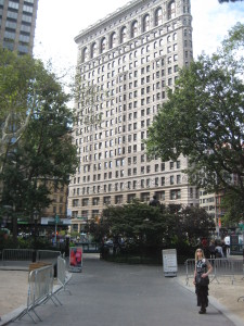 Eliza Redgold at the Flatiron Building New York